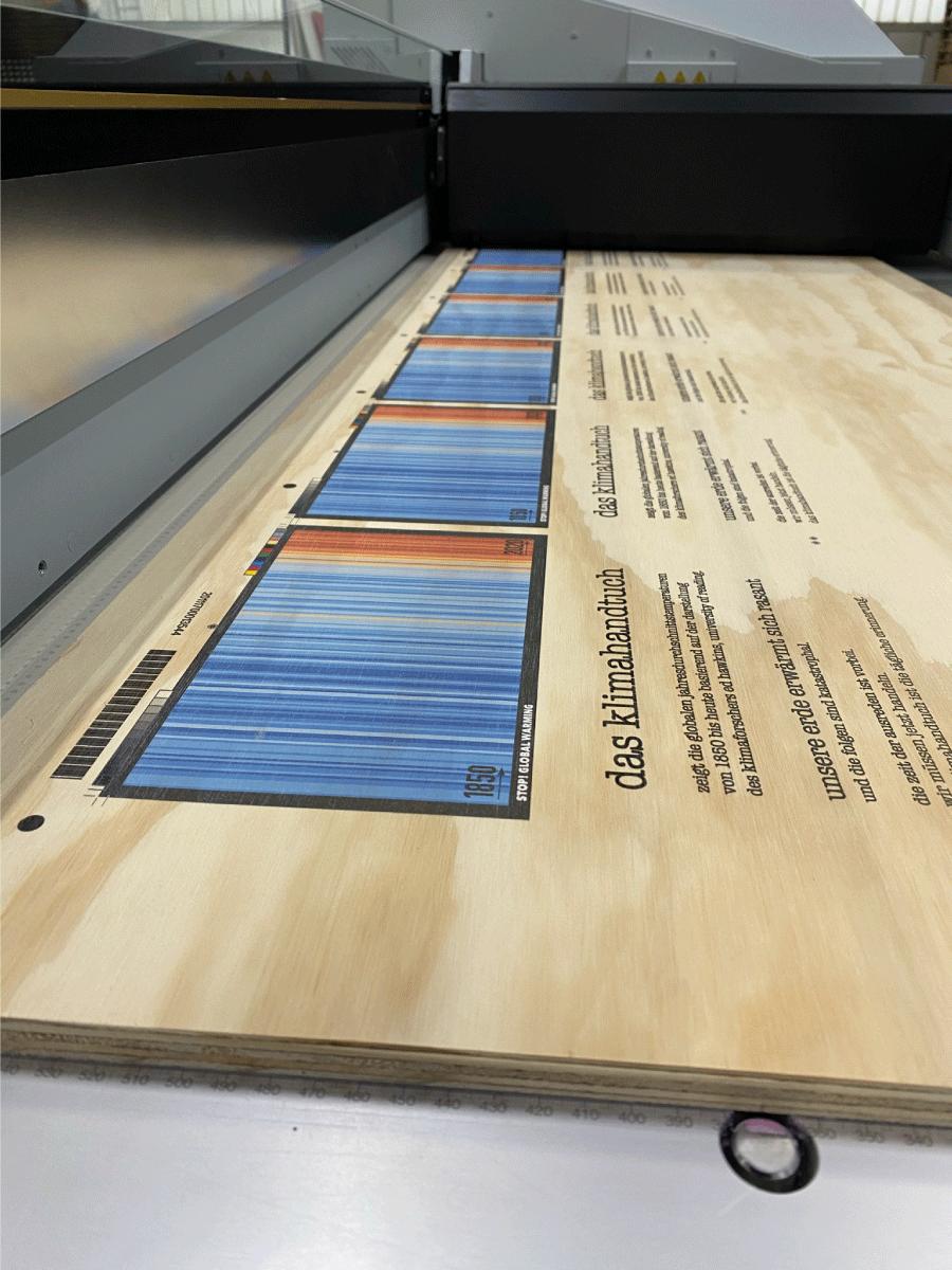 Holzbedruckt