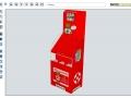 3D-Visualisierung-Verkaufsdisplay
